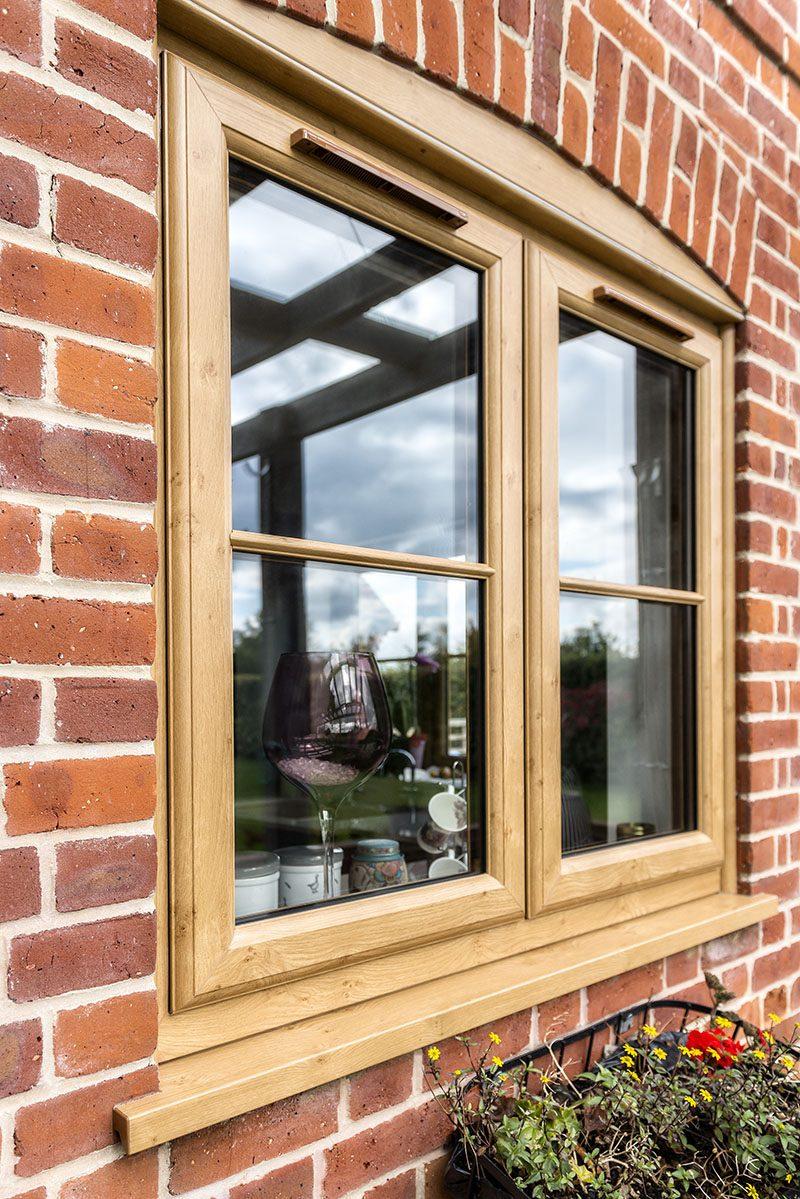 Light Oak uPVC windows